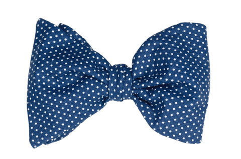 Dots on Navy Blue Youth Bow Tie