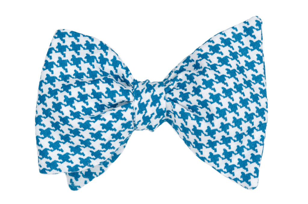 Royal Blue Houndstooth Adult Bow Tie