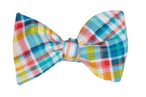 Summer Plaid Youth Bow Tie