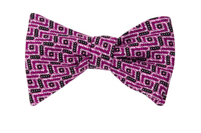 Twist and Shout Purple Adult Bow Tie