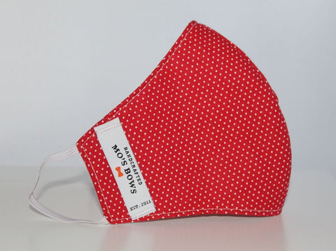 GoMo ADULT Face Mask - Dots on Red