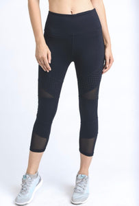 Dot & Mesh Blocks with High Waist Legging