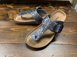Pewter Buckle Sandal***Clearance Final Sale