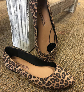 Cheetah Wide Fit Flats