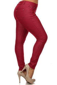 Curvy - Women's Classic Solid Jeggings