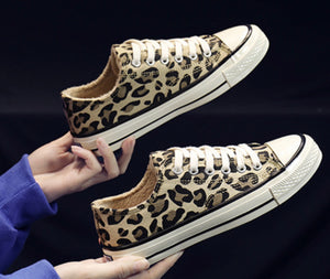 Lined Leopard Sneakers