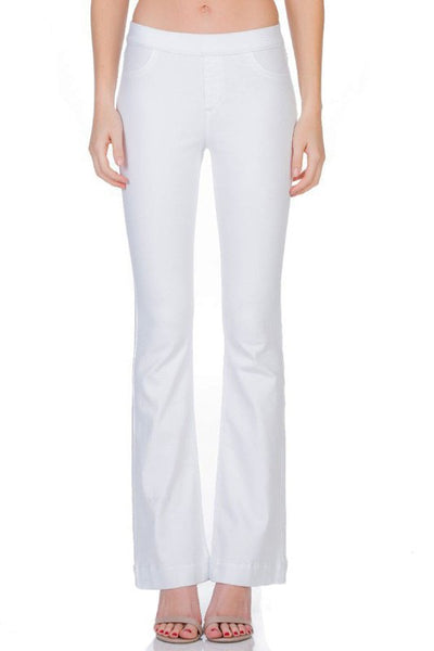 White Wash Flared Jeggings