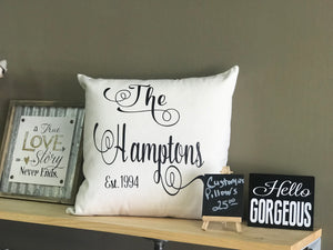 Throw Pillows - Customized