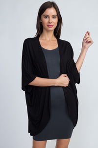 Short Sleeve Open Front Cardigan