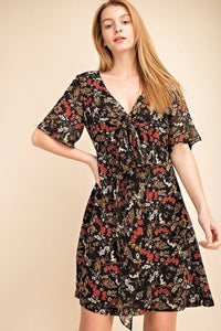 Ditsy Floral Multi-Way Tie Look Woven Dress
