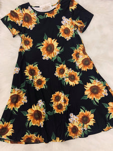 Sunflower Dress with Pockets