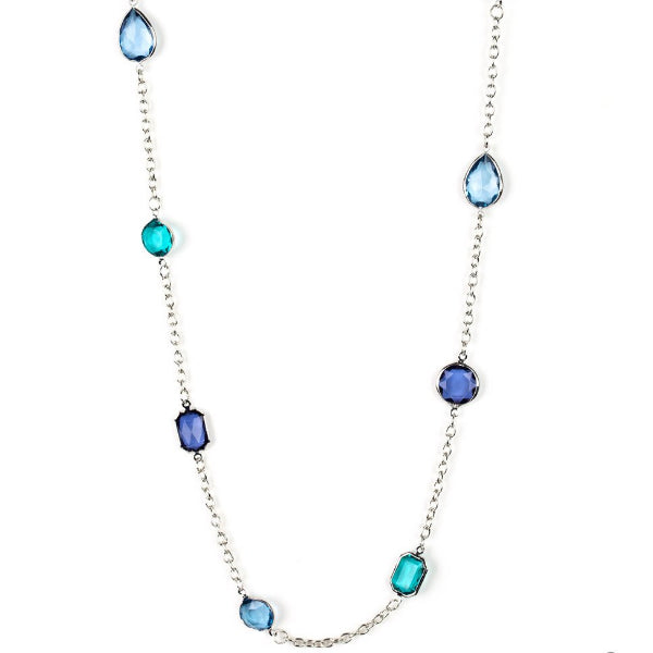 """Glassy Glamorous - Multi"" Necklace & Earrings Set"