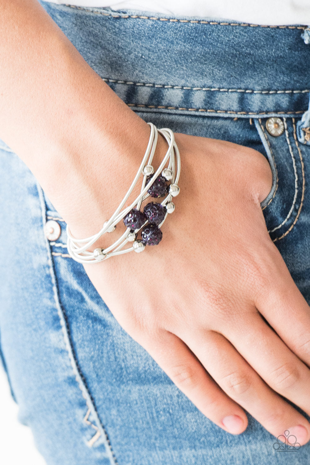 Paparazzi Marvelously Magnetic Purple Beads Bracelet