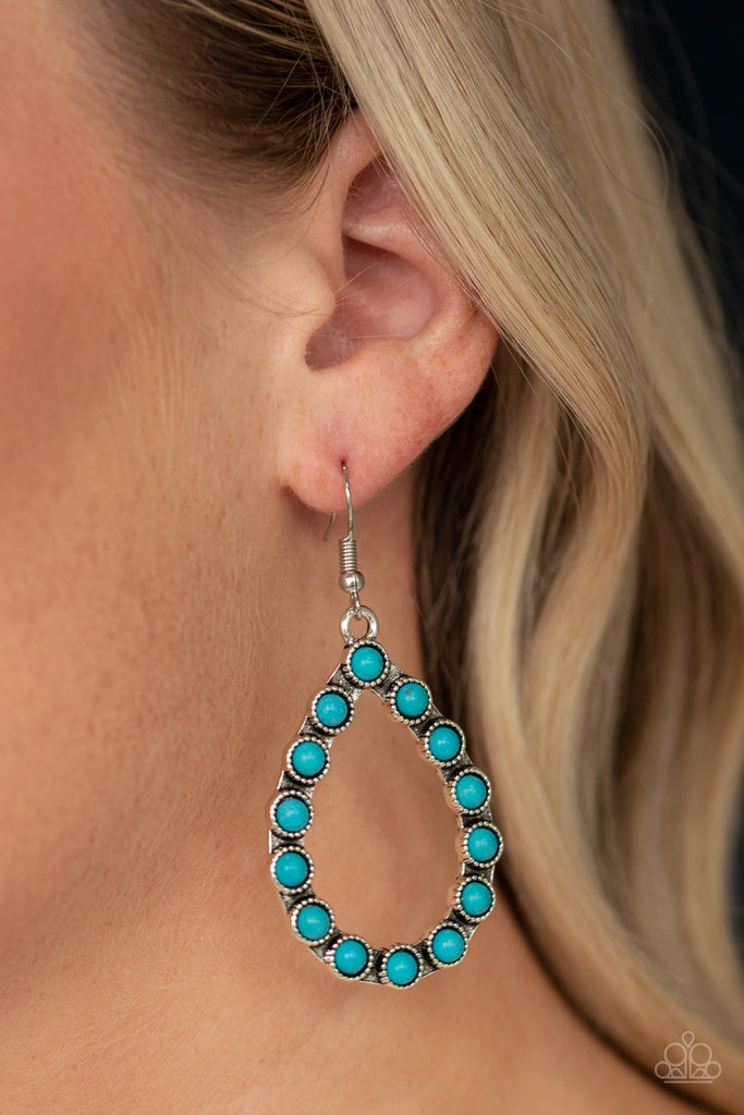 Paparazzi Sagebrush Sunsets Blue Pierced Earrings