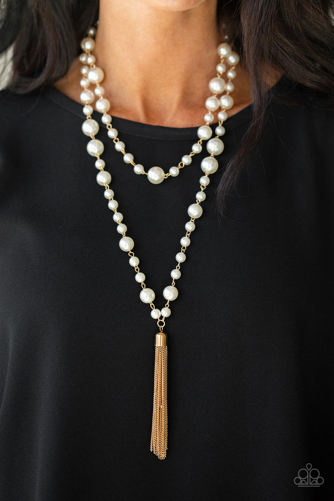 Paparazzi Social Hour - Gold Necklace & Earrings Set