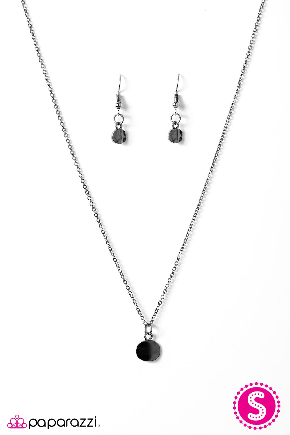Paparazzi Inner Simplicity Black Necklace & Earrings Set