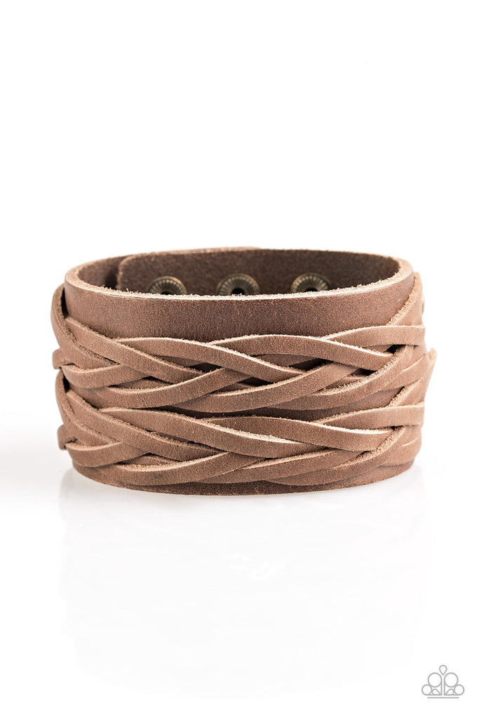"""No Mercy - Brown"" Braided Leather Bracelet"