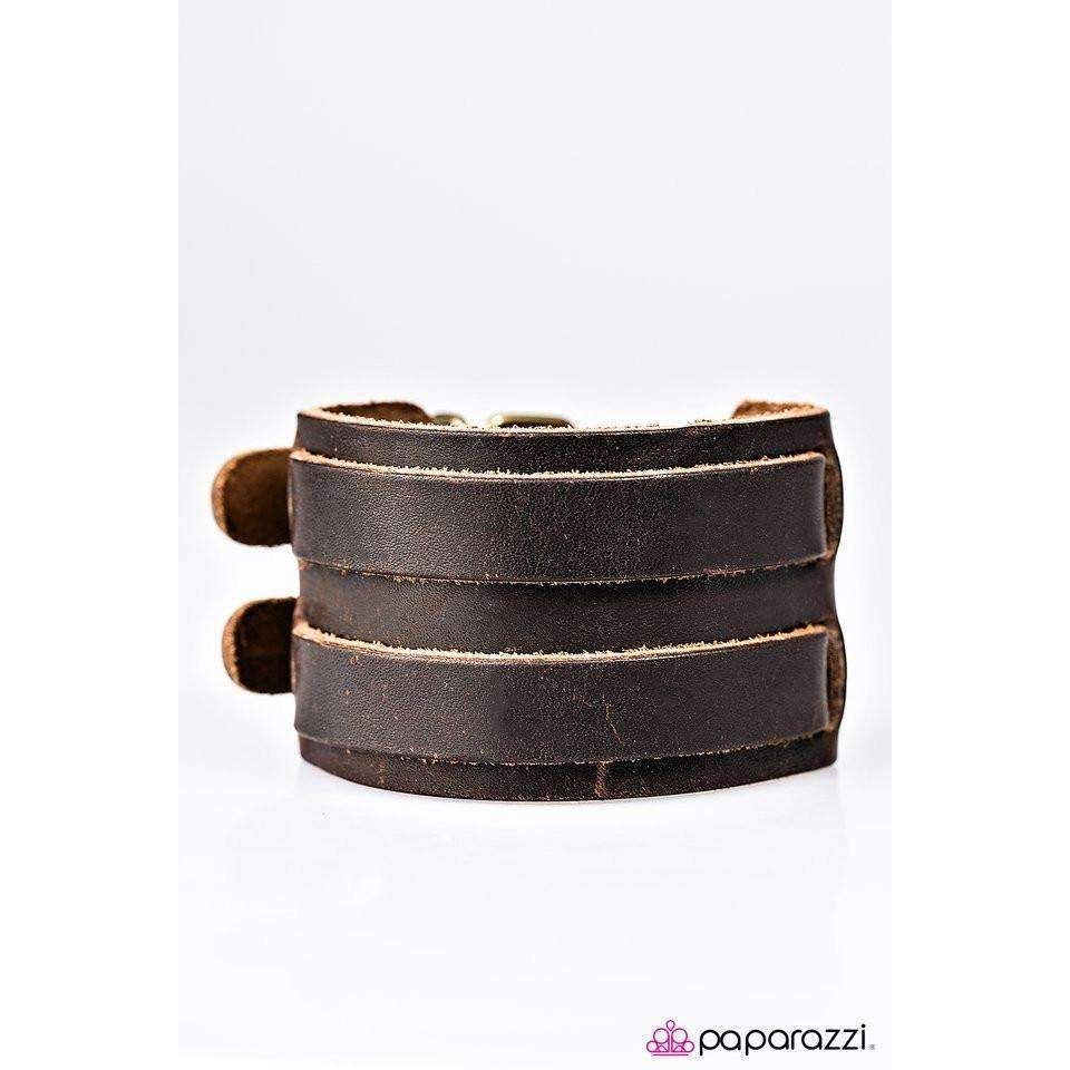 """You're The Man!"" Men's Uni-Sex Leather Paparazzi Bracelet"