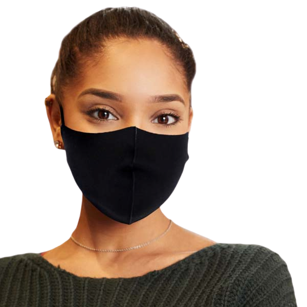 Face Mask Black 3D Adult Unisex Adjustable