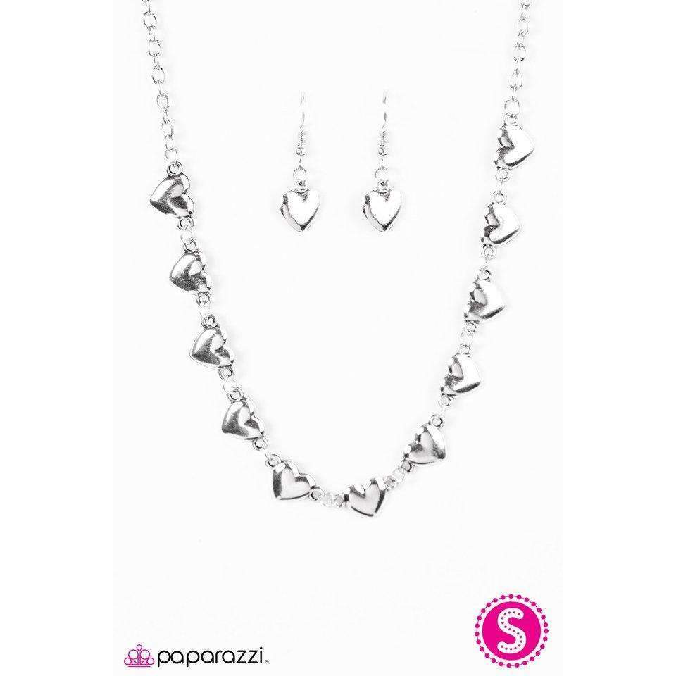 """If My Heart Had Wings"" Dainty Heart Silver Necklace & Earring Set"