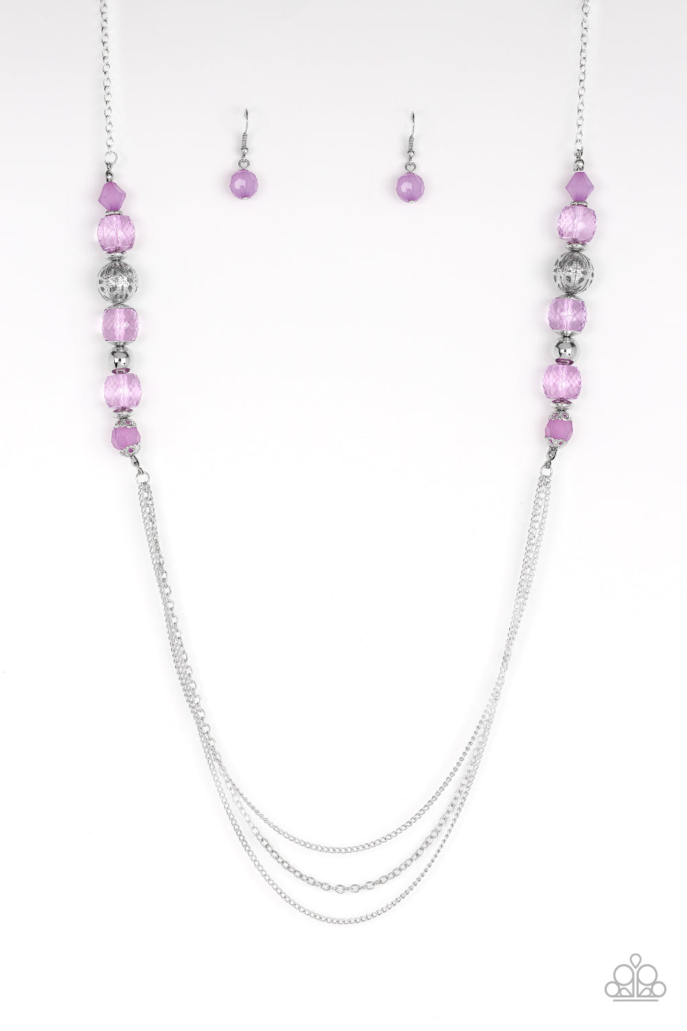 """Native New Yorker - Purple"" Necklace & Earrings Set"