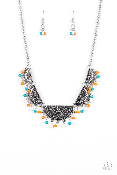 """Boho Baby - Multi"" Tribal Inspired Necklace & Earrings Set"