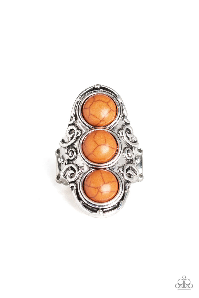 Paparazzi Sahara Soul Orange Brown Stretch Ring