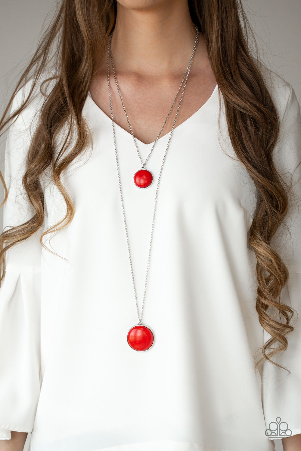 Paparazzi Desert Medallions Red Necklace & Earrings Set