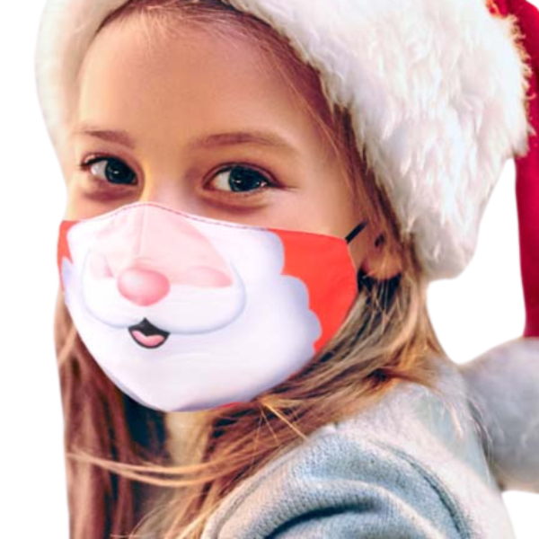 Kid's Face Mask Santa Claus Unisex