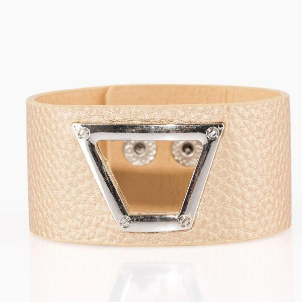Power Play - Gold Leather Wrap Bracelet