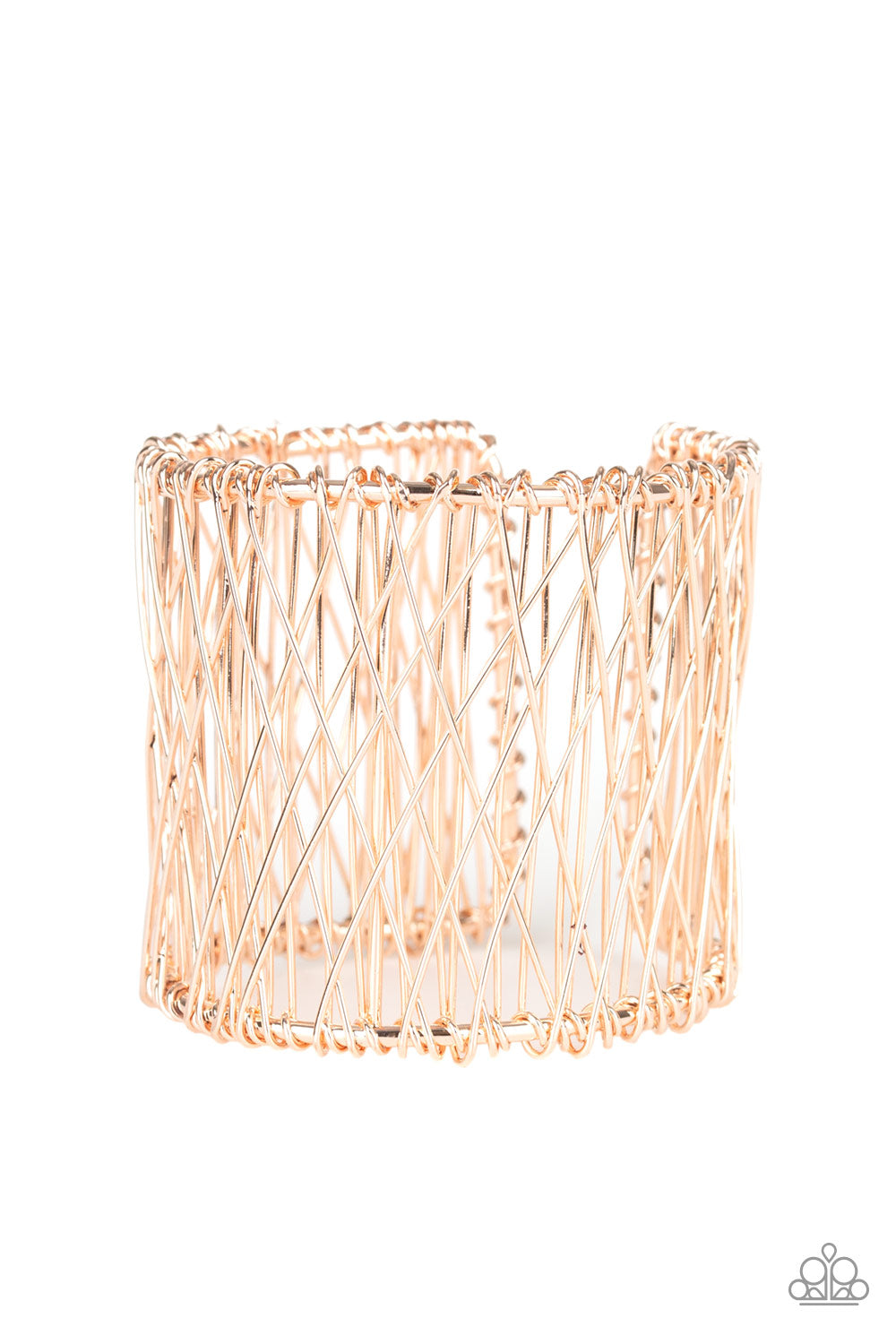 Paparazzi Work For WIRE Rose Gold Cuff Bracelet