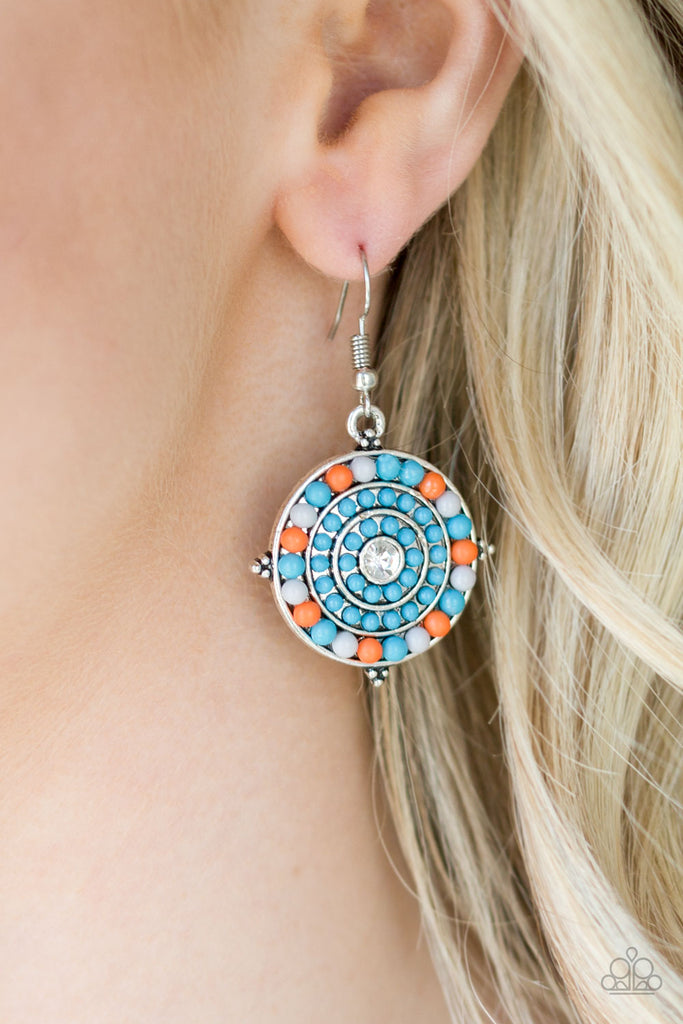 Paparazzi Caribbean Cruzin Blue Pierced Earrings