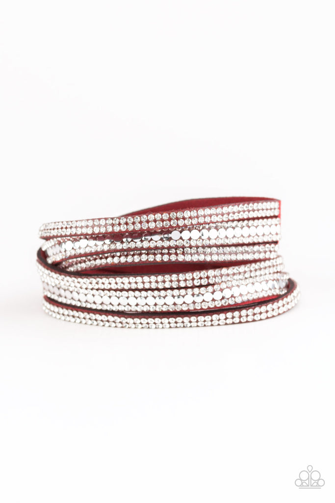 Paparazzi Rock Star Attitude Red Double Wrap Bracelet