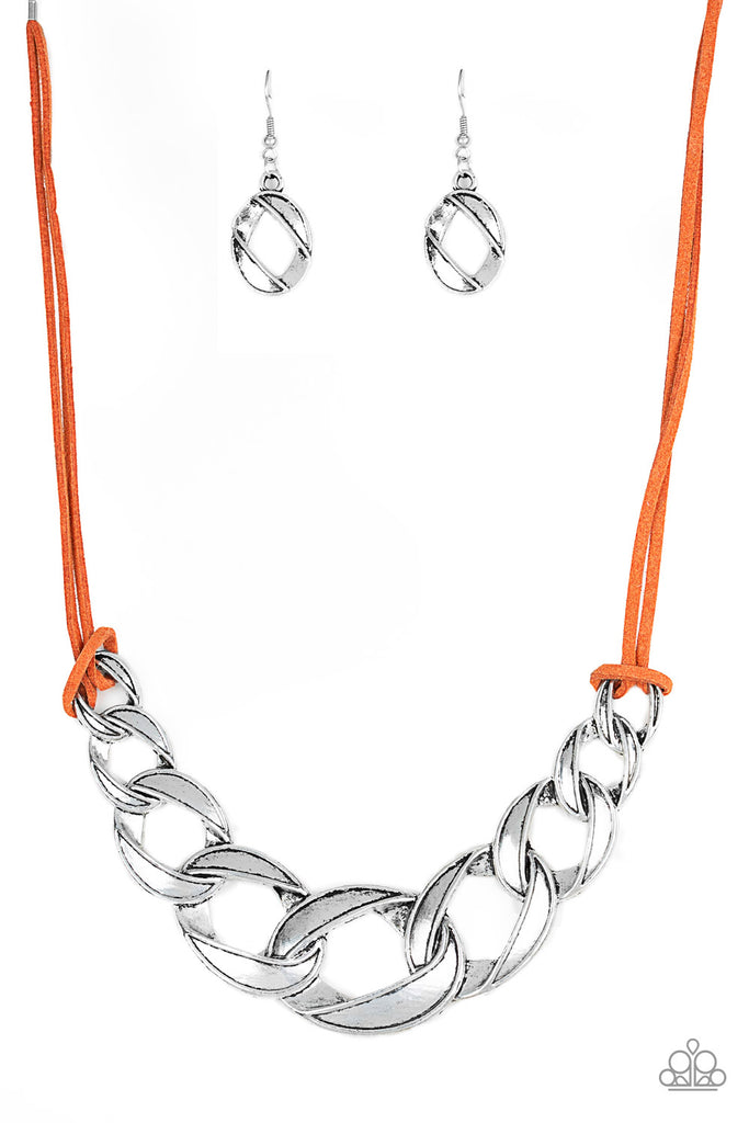 """Naturally Nautical - Orange"" Necklace & Earrings Set"