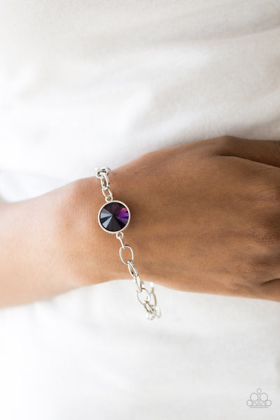 """All Aglitter - Purple"" Toggle Closure Bracelet"