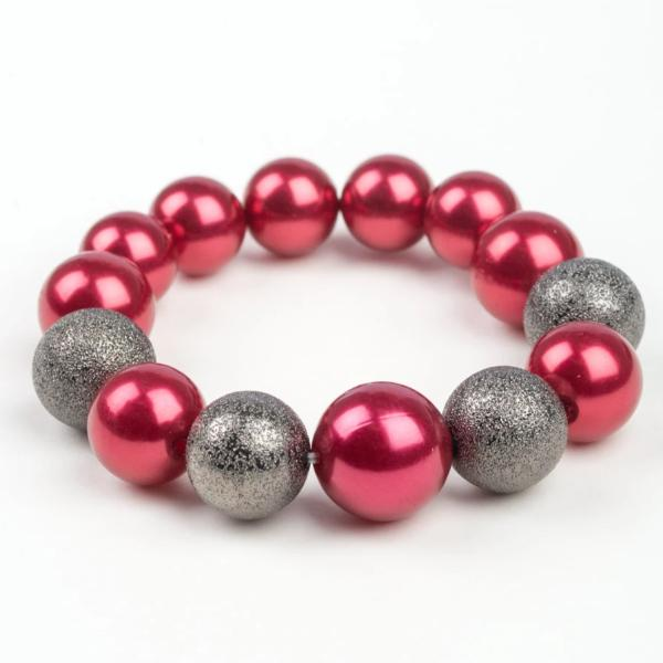 Humble Hustle - Red Stretchable Bead Bracelet