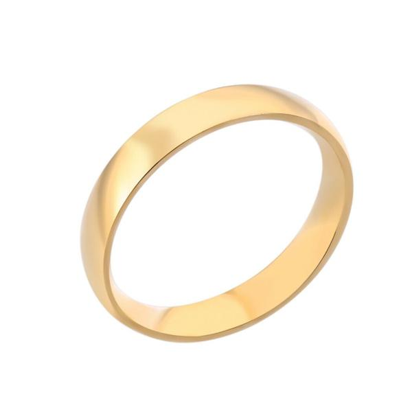 4mm Gold Tone Wedding Band Ring Size 5