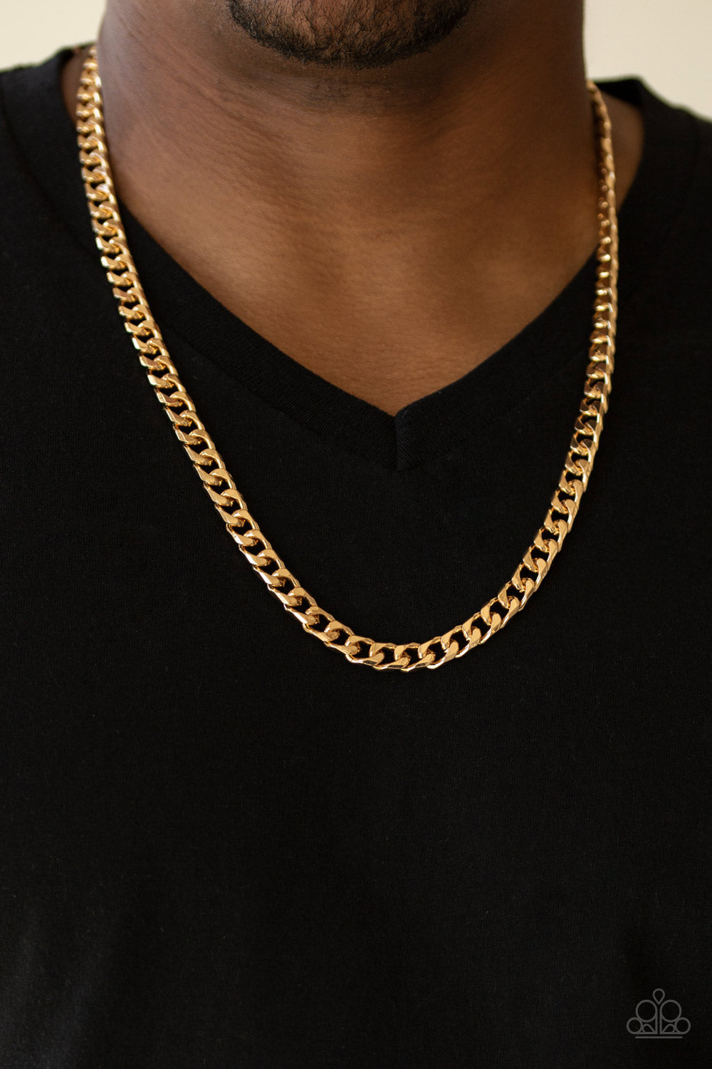 Paparazzi The Game CHAIN-ger Men's Co-Ed Gold Chain Necklace