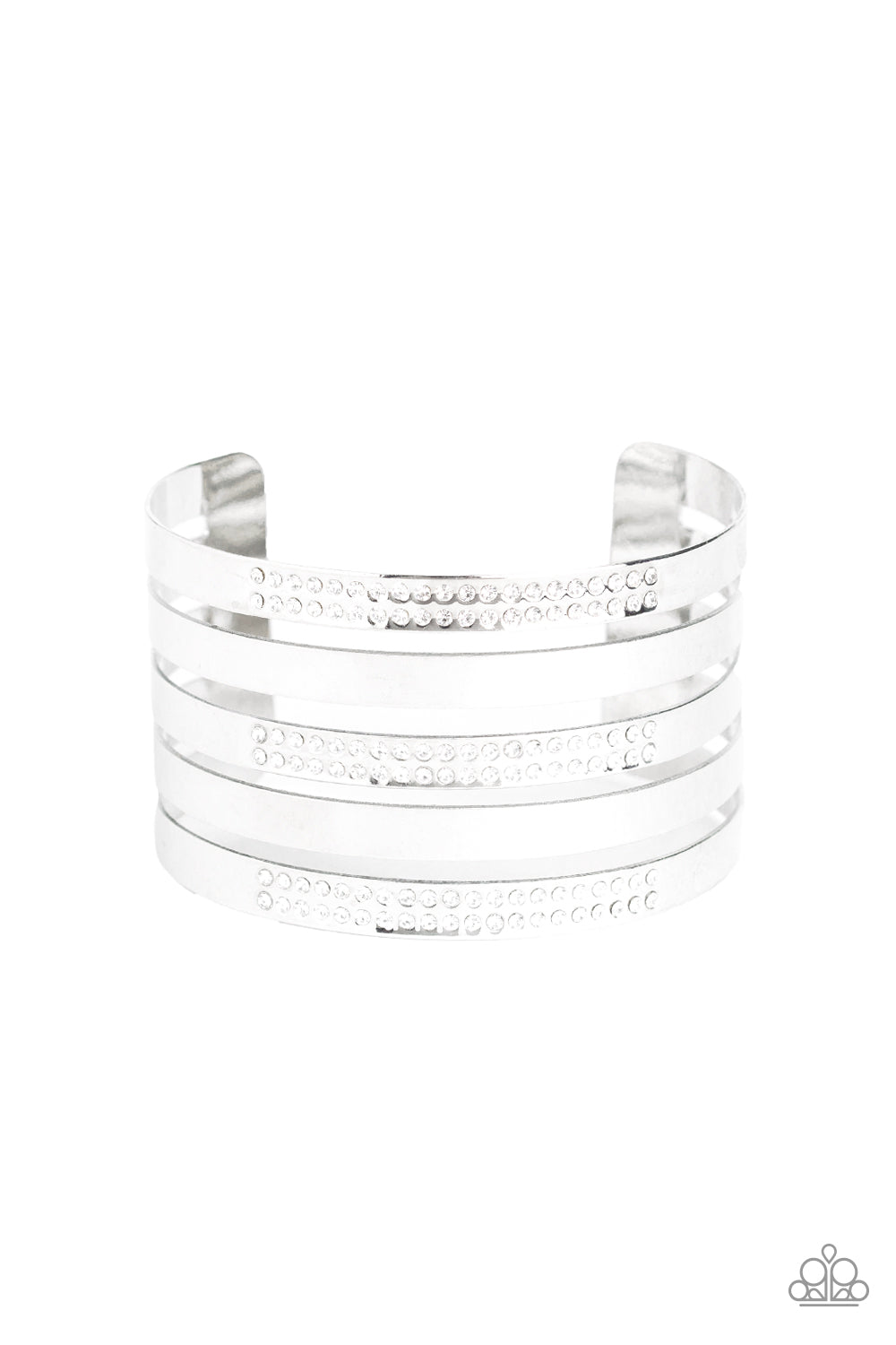 Paparazzi Big Time Shine Silver Cuff Bracelet