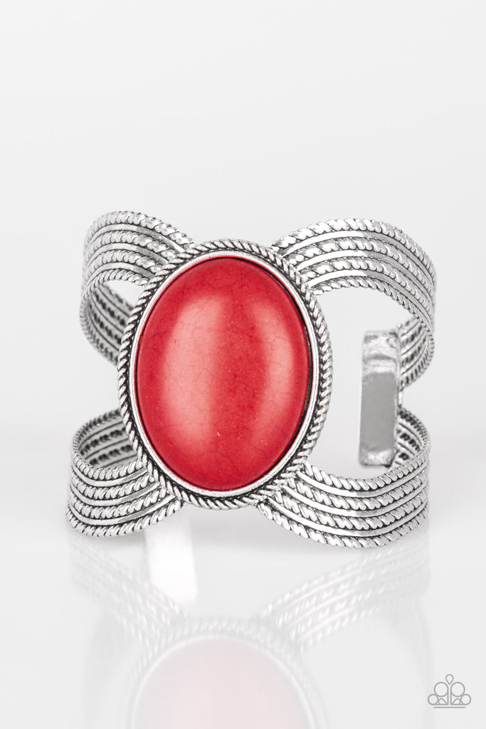 Paparazzi Coyote Couture Red Cuff Bracelet