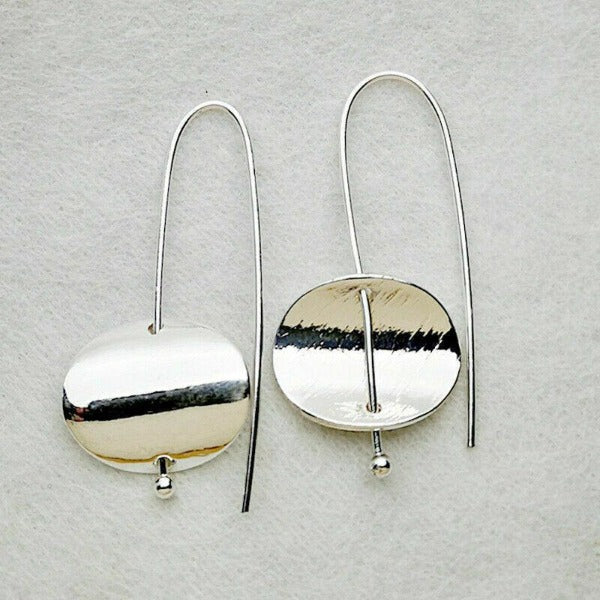 Silver Tone Drop Earrings