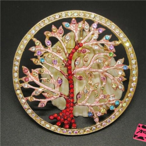 Betsey Johnson Tree Multi-Color Enamel Brooch Pin