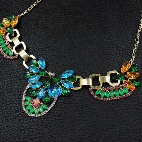 Betsey Johnson Multi-Color Crystal Necklace