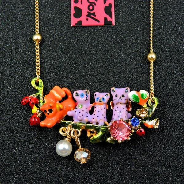 Betsey Johnson Tiny Animals Gold Necklace