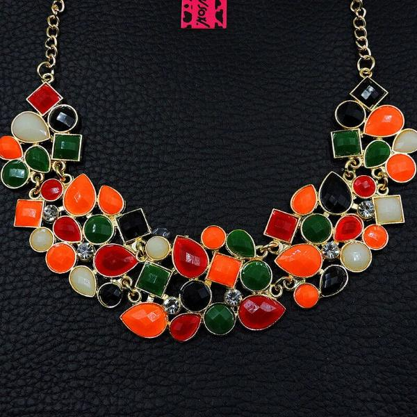 Betsey Johnson Orange Multi-Color Necklace