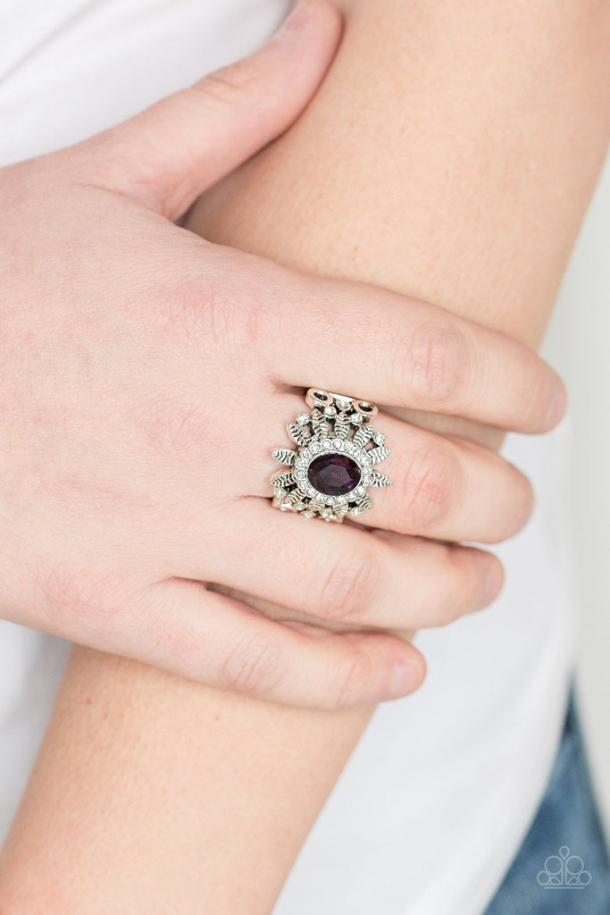 Paparazzi Burn Bright Purple Stretch Ring
