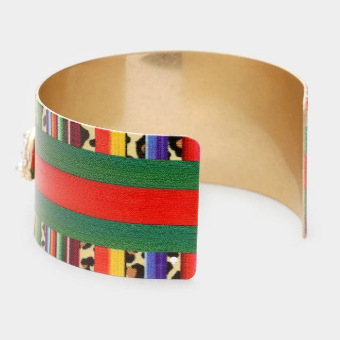 Serape Pearl Honey Bee Cuff Bracelet