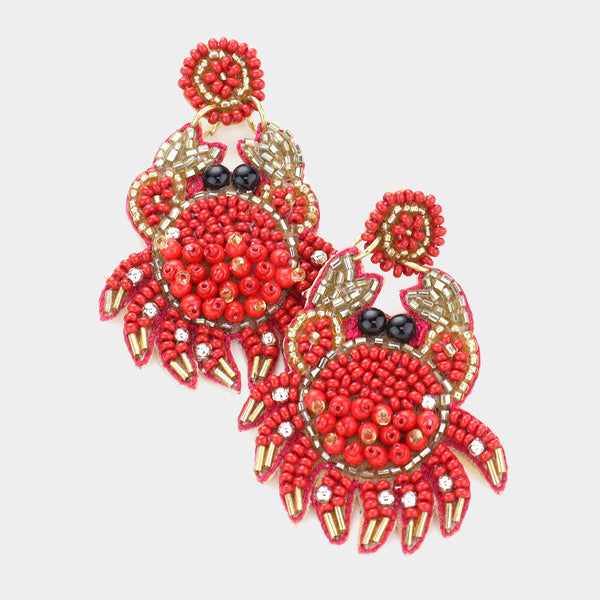Crab Multi Bead Earrings