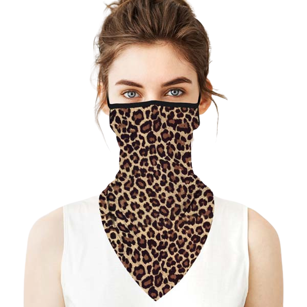 Face Mask Leopard Print Scarf Reusable Washable Adult Unisex