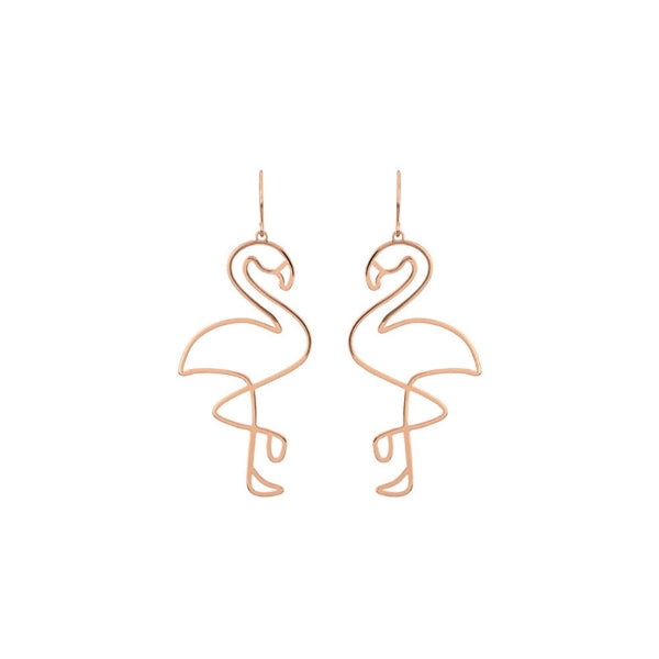 Flamingo Hallow Gold Earrings